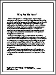 "Read ""Why Are We Here?"""